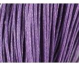 1mm Baumwolle gewachst Schnur Gewinde String Schmuckherstellung DIY Art Craft Shamballa Makramee für geflochten Neklace Armband Jewelry 10m in der Zeichenkette Tasche Verpackt, lavendel, 1 mm x 10 m