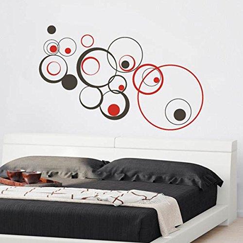 Pegatinas de pared cabecera, adhesivo, vinilo decorativo cabecera círculos