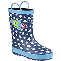Cotswold Sprinkle Boys Synthetic Material Wellies Dark Blue & White - UK Size 1 (EU 33)