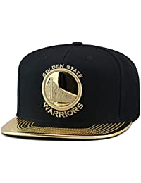 best service ed021 c158a Mitchell   Ness Golden State Warriors Snapback Hat Black Metallic Gold Foil