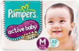 Pampers Active Baby Medium Size Diapers ...
