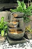 Fontaine d'Extérieur à 3 Bols de Tailles Différentes - avec Lumières
