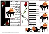 Feuille A4 pour confection de carte de v?ux - Piano Concerto - Foldback carte with Pyramid par Julene Harris