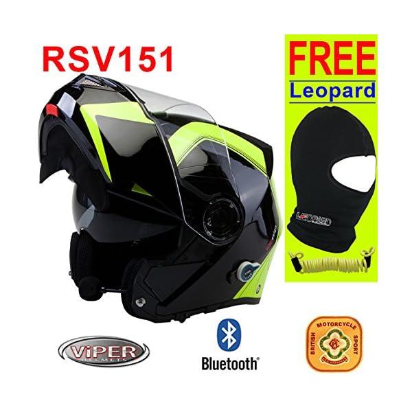 ab0d1088 Viper RS-V151 Bluetooth Flip Front Motorcycle Helmet - Motorbike Shop