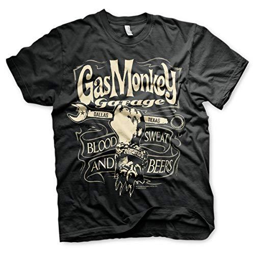 Gas Monkey Garage Garage Wrench Label T-Shirt schwarz L -