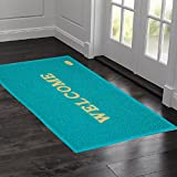 #1: Kuber Industries™ Dirt Rubb Off Clean Footwear PVC Welcome Doormat for Offices,Hotel ,Restaurant, Home,Shop Color-Green (Extra Large Size : 90 cm x 60 cm x 1 cm)