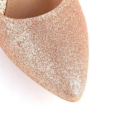 Talloni delle donne Primavera Estate Autunno Inverno Club scarpe tacco paillettes glitter personalizzata Materiali da sposa di feste ed abito da sera a spillo Altro Gold