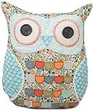Sass & Belle Clara Owl Cushion - Multi coloured Owl patterned cushion