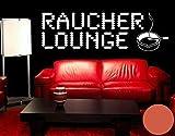 Klebefieber Wandtattoo Raucherlounge B x H: 120cm x 37cm Farbe: Orange