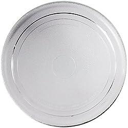 SPARES2GO - Piatto con piattaforma girevole in vetro liscio per forno a microonde AEG (270 mm)