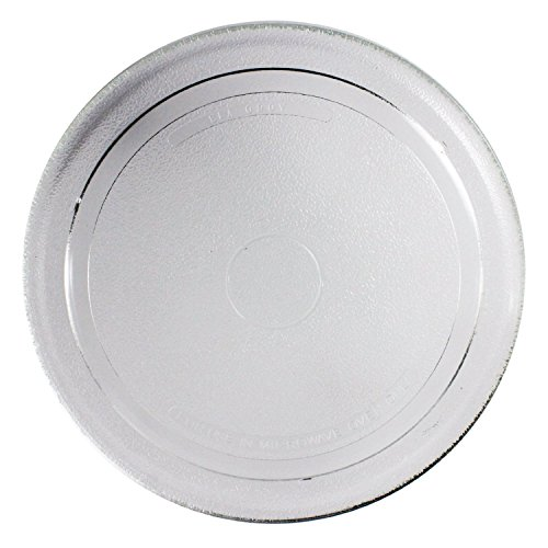 spares2go-smooth-glass-turntable-plate-for-sharp-microwave-oven-270mm-27cm