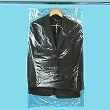 20 transparente Anzug Bekleidungsschutzhülle Folie Kleidersack aus Polyethylen - Folienstärke: