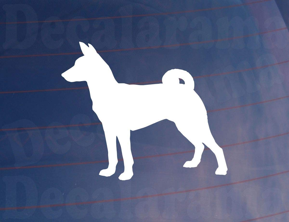 Decalarama BASENJI SILHOUETTE Novelty Car/Van/Window/Bumper/Home/House Sticker