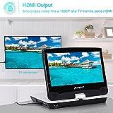 Pumpkin lettore dvd blu-ray portatile auto con 10.1 pollici schermo, supporta HD 1080P blu-ray discs, supporta usb/sd card/MMC, supporta av-in /av-out,18 mesi di garanzia.