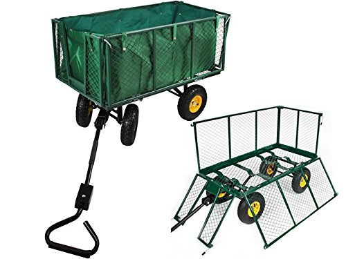 Handwagen mit Plane 550kg Bollerwagen Gartenwagen Transportkarre Anhänger #840