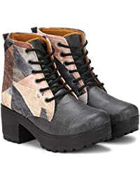 Triksy Women's Lace Up Ankle Boots