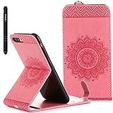 Slynmax Coque pour iPhone 7 Plus/8 Plus, Flip Clapet 2 en 1 Protecteur en Cuir PU TPU...