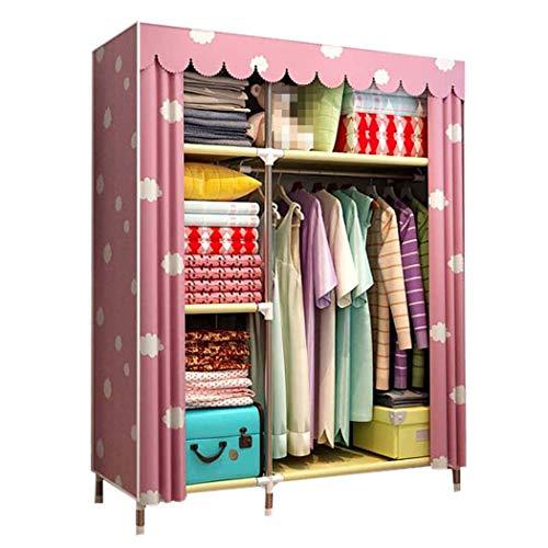 DPPAN Portable Storage Closet, verdicken Schattierung Tuch Kleidung Veranstalter Kleiderschrank Regale, Garment Organizer,B_125x45x170CM