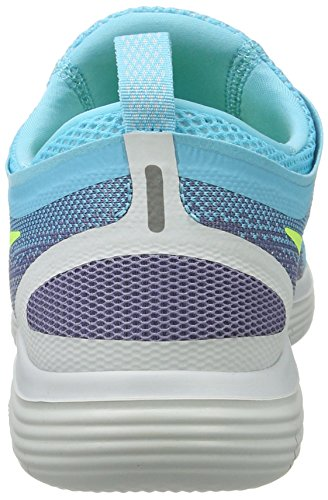 Nike Femmes Free Rn Distance 2 En Cours D'exécution, Scarpe Sportive Indoor Donna Multicolore (bleu Polarisé / Violet Volt-fer)