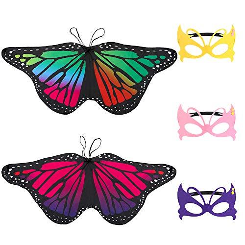 Butterfly Prinzessin Kostüm Kind - Tagaremuser 2 Stück Kinder Schmetterlingsflügel, Fairy