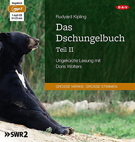 dschungelbuch hoerbuch Das Dschungelbuch - Teil II: Ungekürzte Lesung mit Doris Wolters (1 mp3-CD)