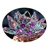 Cristal de cuarzo de cristal de loto de piedra natural y minerales fósiles flor de cristal para la boda de la familia artesanías (8cm)