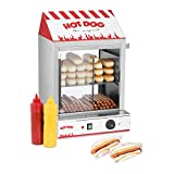 Royal Catering Hot Dog Steamer RCHW 2000 Würstchenwärmer für bis 200 Würstchen 50 Brötchen Warmhaltegerät 2000 W Ablassventil
