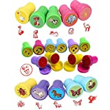 Party Bag Fillers Emoji Gifts Animal Stampers for Children Assorted Cute Carton Stampers Kit Boys Girls Toys Self Inking Stamps Kids Children Birthday Gifts School Prize 30Pcs