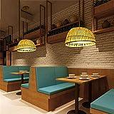 WHKHY Lampada da Tessitura in Rattan Professionale Cinese Antico Hotel 35 * 18 Centimetri Lampada a Sospensione Invisibile per Gancio Cromato Hotel camere da Letto Cucina Sala da Pranzo