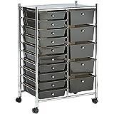 VonHaus 15 Drawer Storage Trolley | Home Office Supplies or Make-up & Beauty
