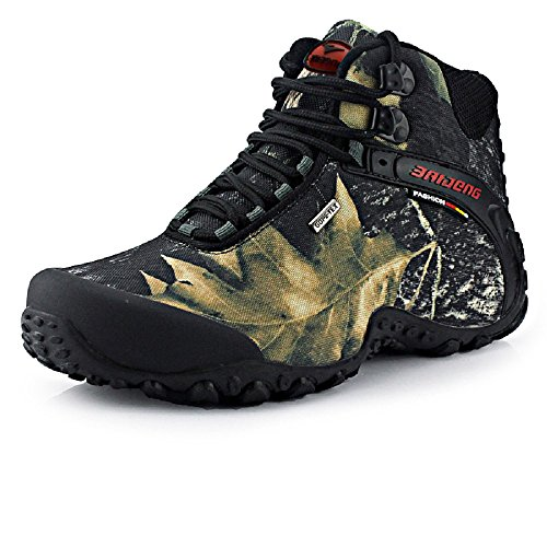 NEOKER Trekking Stiefel Herren Wanderschuhe Winter Hiking Walking Sport Outdoor Sneaker Grau 45