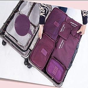 Malayas® 6 Set Système de Cube Voyage Pochette de Voyage Multifonctionnel Parfait pour Voyage Bagages Organisateur