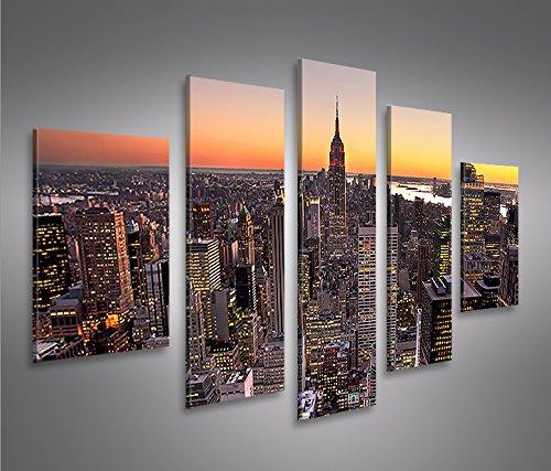 New York City MF 5 Quadri moderni su tela - pronti da appendere ...