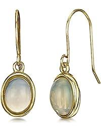 Theia 9ct Yellow Gold Opal Drop Earrings