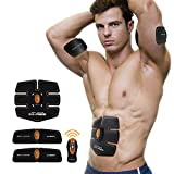 IMATE Professional Unisex Smart Abdominal Muscle Toning Belt Home Fitness Training Gear, Abs Fit Weight Muscle Training, Waist Slimming Ab Belt Vibration Pads for Men and Women to Tone, Loss Weight, Trimmer, Slender, Shaper, Stronger