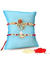 TiedRibbons® Rakhi For Brother With Gift Combo Set Of 2 Rakhi With Roli Chawal Pack