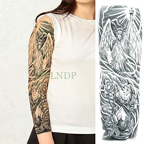 Ljmljm 3pcs Tatuaje Impermeable Etiqueta Bird Rose