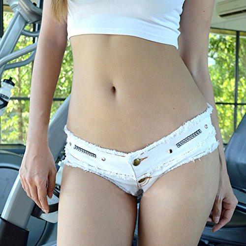 JLTPH Été Femmes Sexy Jeans Hot Shorts Denim Mini Courts Pantalon white