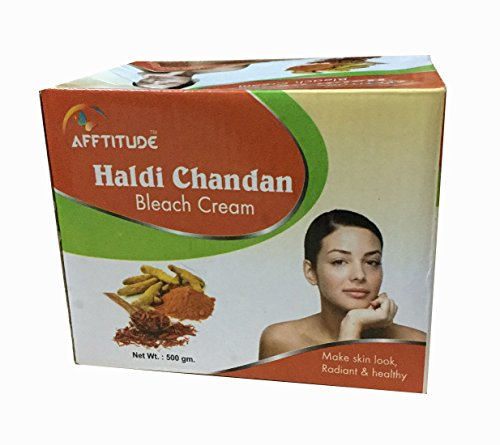 Afftitude Women Healthy And Radiant Look Bleach Cream A Herbal Preparation No side Effect (500 gm) (Haldi Chandan, 500 gm)  available at amazon for Rs.415