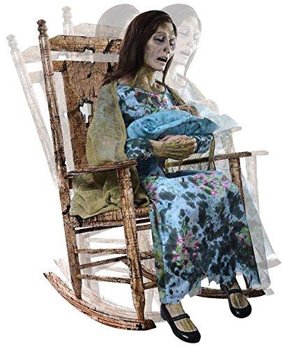 sv Zombie Mutter mit Baby Untote Lady mit Zögling Animatronic (ohne Schaukelstuhl) singt und ()