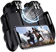 Mobile Game Controller For PUBG, [6 Finger/Upgrade Version ] Goglor Android & Iphone L1R1 Aim And Shoot Tr