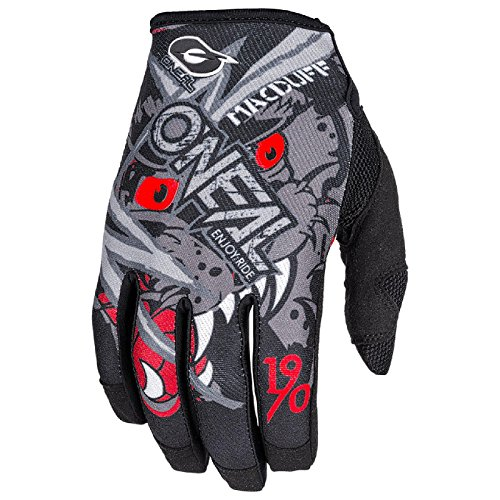 O'Neal Mayhem Macduff MX Handschuhe Motocross DH Downhill Enduro Offroad Mountain Bike, 0385, Farbe Grau, Größe L (Off-road-mountain-bike)