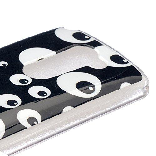 Ecoway copertura / coperture / insiemi di telefono / shell protettivi apparecchi telefonici mobili chiari e trasparenti Custodia TPU silicone Crystal per Apple iPhone 5/5S, case cover protettivo diseg oeil noir et blanc