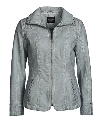 Bexleys Woman Damen Jacke in Lederoptik, Blazer-Jacke, mit Nieten Mintgrün 42