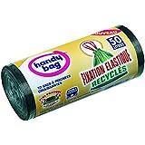 cofresco Handy Bag 10 Sac Poubelle Poignées Coulissantes Recyclés Fixation Elastique 50 L - Lot de 3