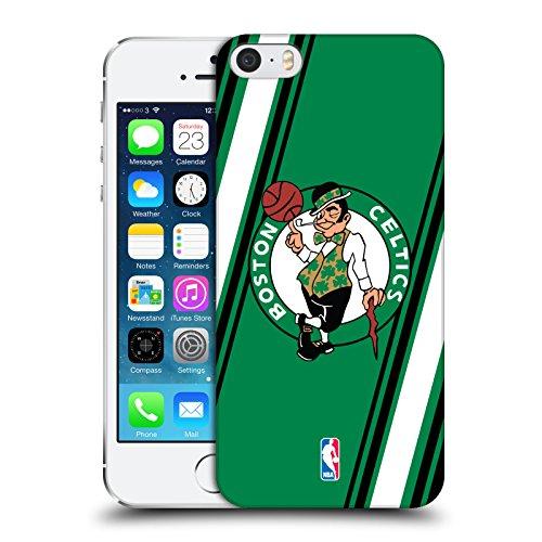 Offizielle NBA Streifen Boston Celtics Ruckseite Hülle für Apple iPhone 5 / 5s / SE (Se-streifen)