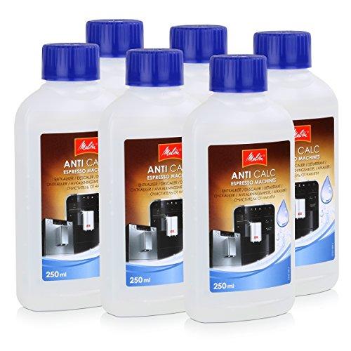 6x Melitta Anti Calc Flüssigentkalker Espresso Machines 250ml