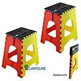 2 Stück Set Lantelme Klapphocker 44 cm Hoch und max. 120 kg belastbar . Hocker aus Kunststoff für Haushalt , Garten und Camping