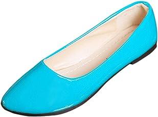 Schuhe Damen Julywe Frauen Slip on Flache Schuhe Sandalen Casual Bunte Schuhe Größe