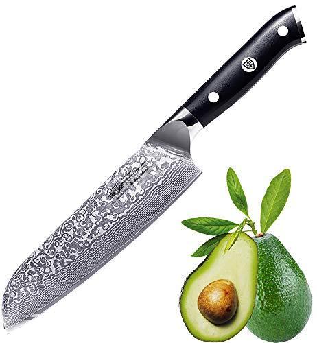 Kitchen Emperor Cuchillo Santoku Damasco, Cuchillo Acero Damasco, Cuch